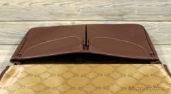 Портфель на магнитах большой коричневый