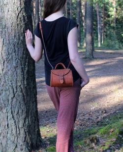 """Женская сумка """"Калинка"""" малая рыжая"""