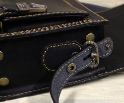 Сумка-барсетка с карманом чёрная