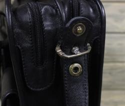 Портфель большой из мягкой кожи чёрный