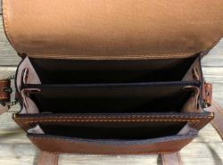 Сумка-барсетка коричневая