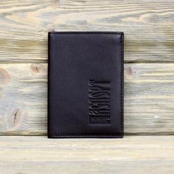 Обложка на паспорт тёмно-коричневая