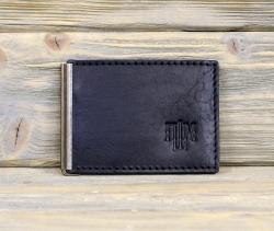 Зажим для денег с карманом для монет