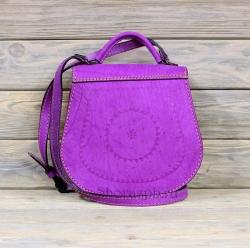 Женская сумка светло-фиолетовая