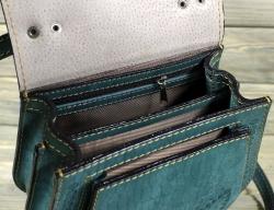 Женская сумка зелёная