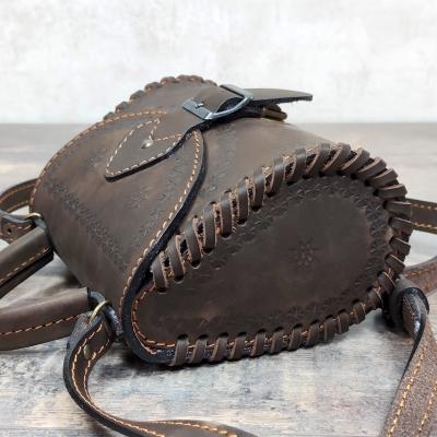 """Женская сумка """"Калинка"""" коричневая"""