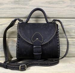 """Женская сумка """"Калинка"""" малая чёрная"""