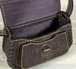 """Женская сумка """"Карамелька"""" коричневая"""
