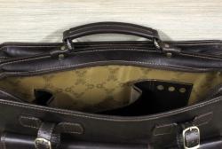 Портфель большой из мягкой кожи коричневый