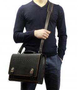 Сумка-портфель чёрная