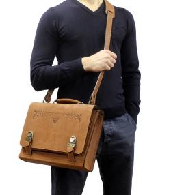 Сумка-портфель коричневая