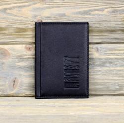 Обложка на паспорт с карманами чёрная