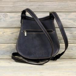 Женская сумка с мехом чёрная