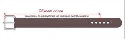 """Ремень с пряжкой """"Александр Невский"""", 50мм, тёмно-коричневый"""